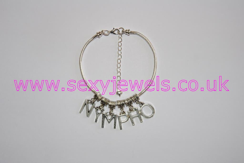 Euro Anklet / Ankle Chain `NYMPHO` (LL) Nymphomaniac