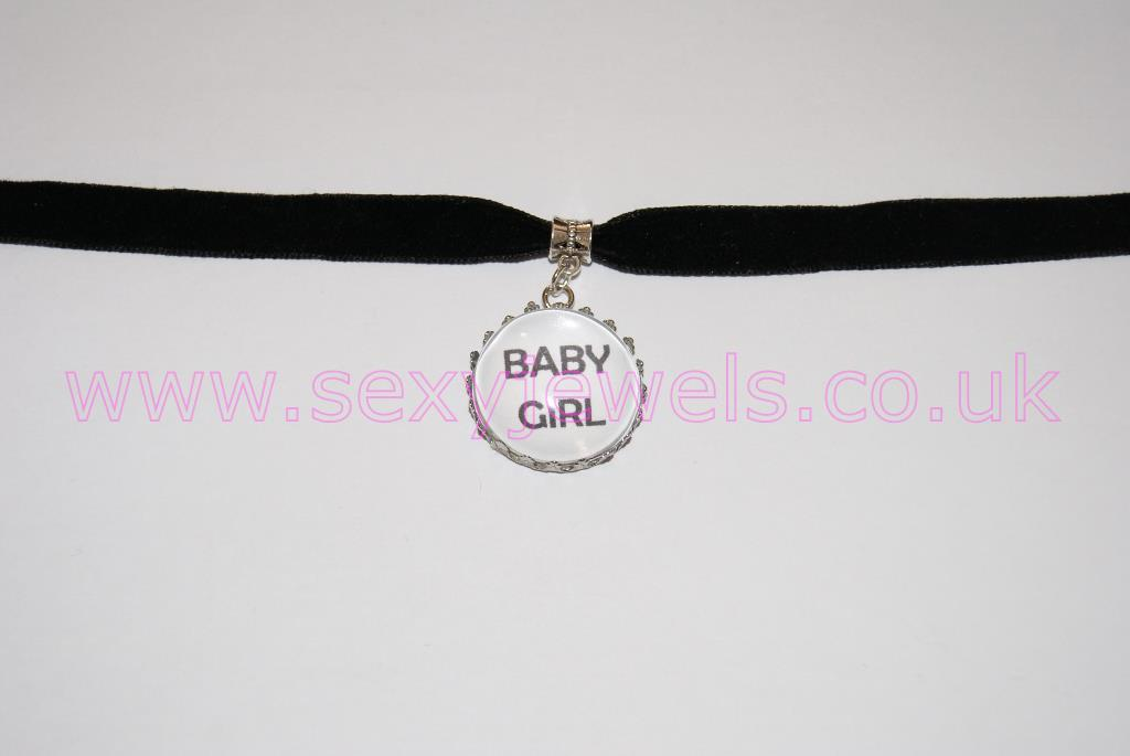 Baby Girl Black Velvet Choker Necklace Collar