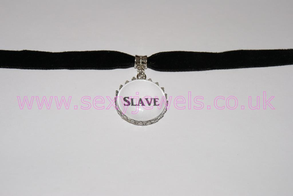 Slave Black Velvet Choker Necklace Collar