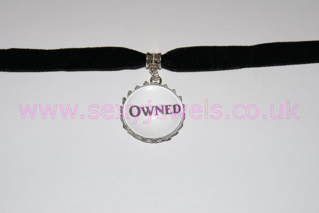 Owned Black Velvet Choker Necklace Collar