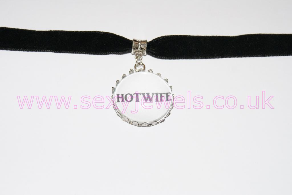 Hotwife Black Velvet Choker Necklace Collar