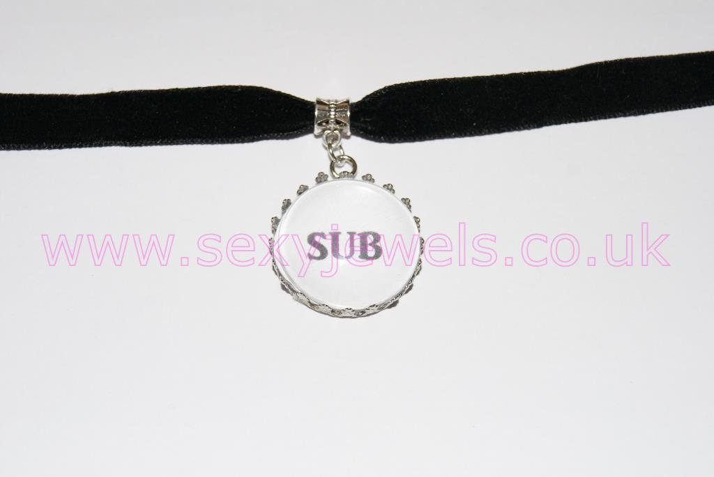 Sub Black Velvet Choker Necklace Collar