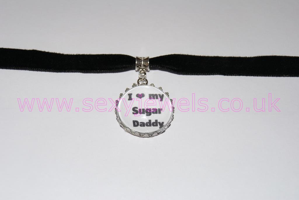 Sugar Daddy, Sugar Baby Black Velvet Choker Necklace Collar