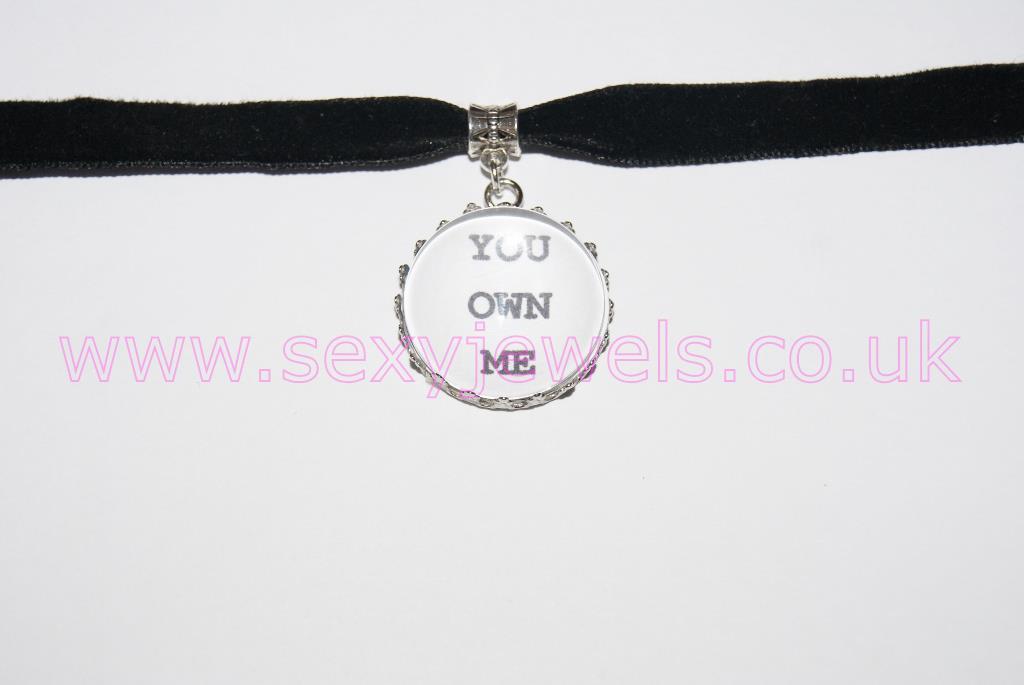 You Own Me Black Velvet Choker Necklace Collar