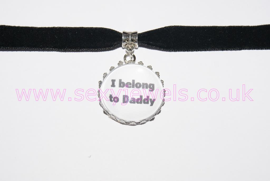 'I belong to Daddy' Black Velvet Choker Necklace Collar
