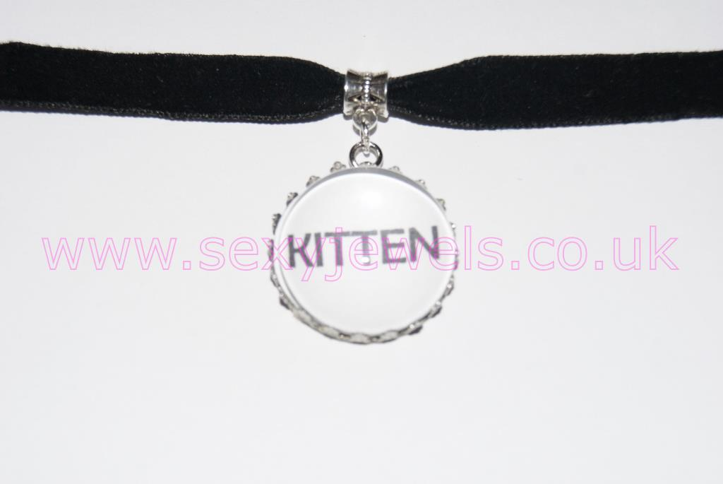 Kitten Black Velvet Choker Necklace Collar
