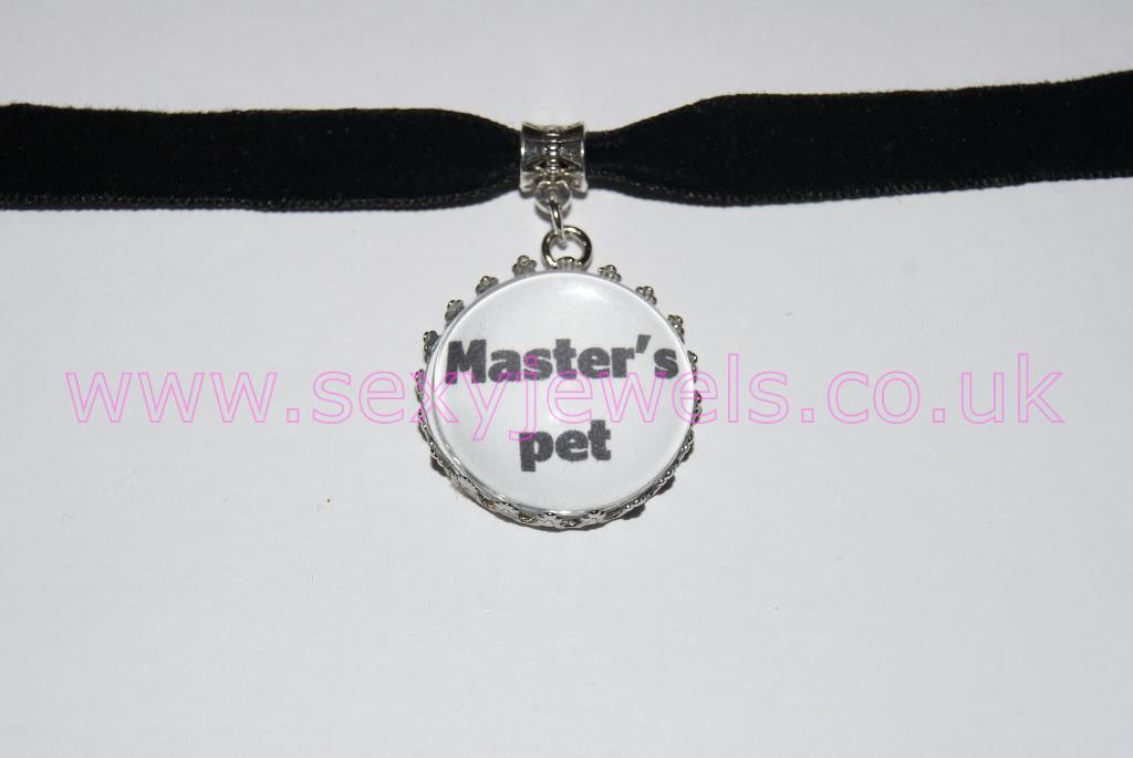 Master's Pet Black Velvet Choker Necklace Collar