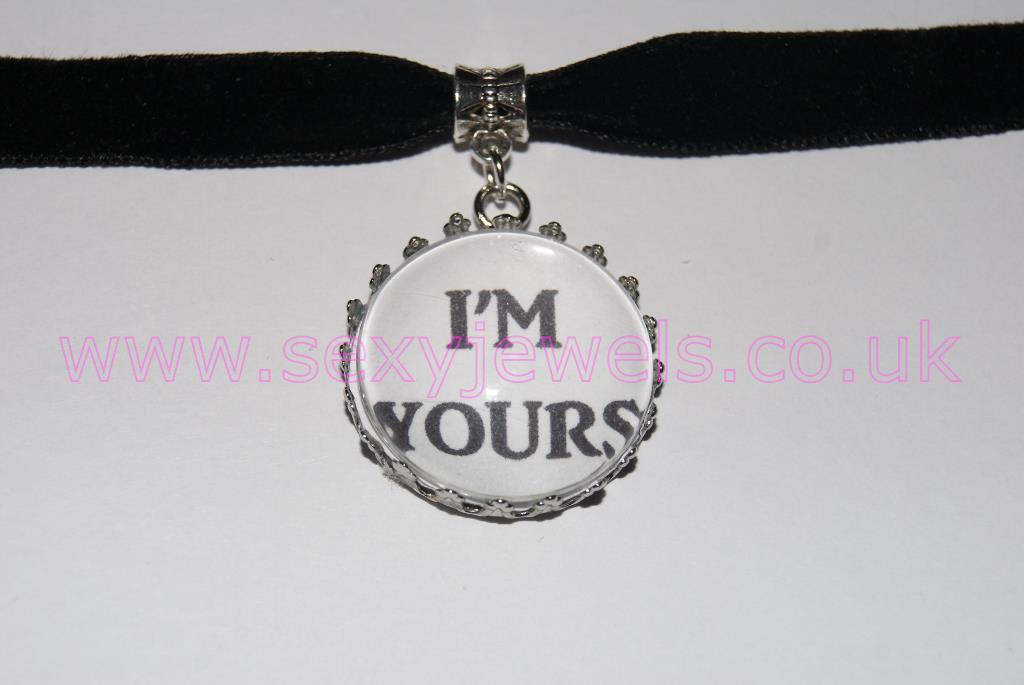 I'm Yours Black Velvet Choker Necklace Collar