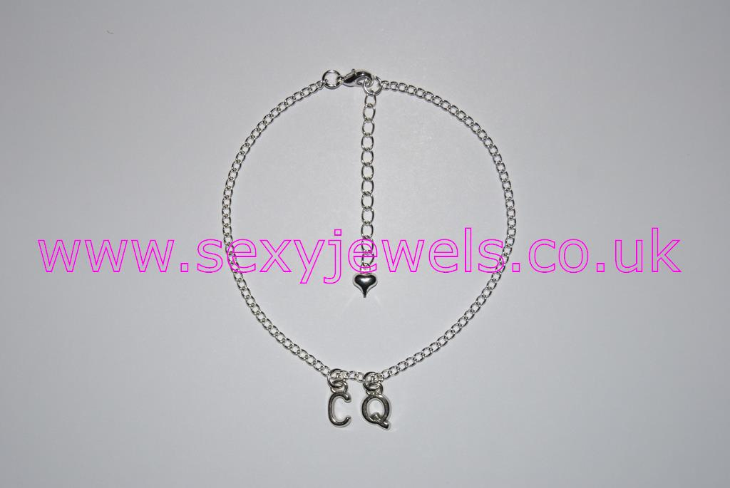 Ankle Chain `CQ` Anklet for Cuckquean Cuckold Wife