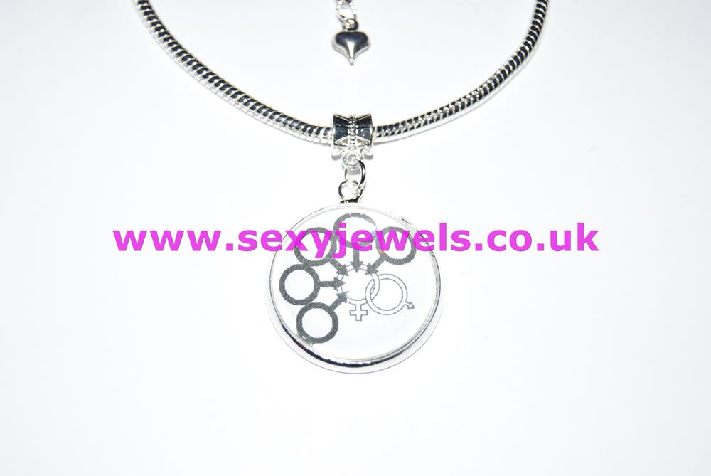 Cuckold Gangbang Dome Charm Euro Anklet / Ankle Chain - Hot Wife Watching