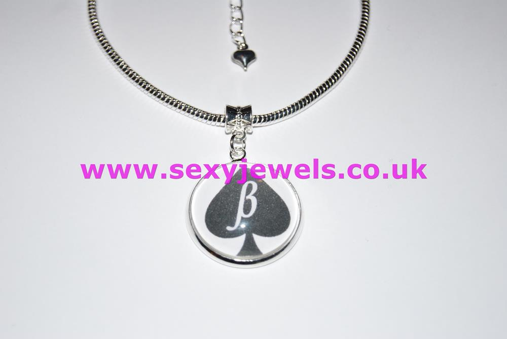 Beta Boi Spade Dome Charm Euro Anklet / Ankle Chain - Submissive Husband