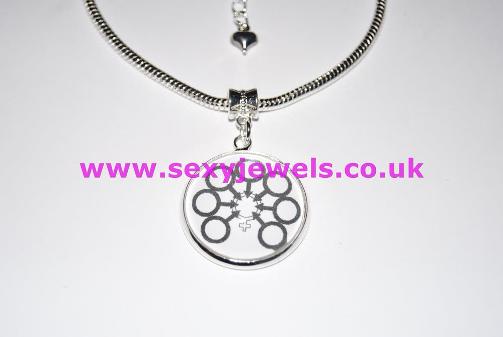 Gangbang Dome Charm Euro Anklet / Ankle Chain - Hotwife Swinger Moresome