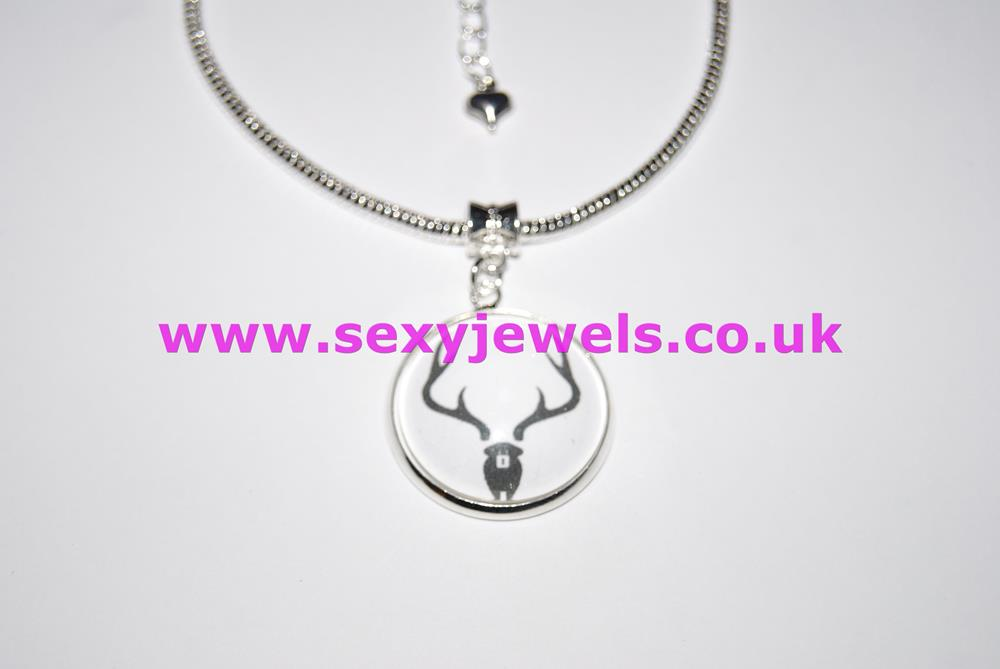 Locked Stag Cuckold Dome Charm Euro Anklet / Ankle Chain - Chastity