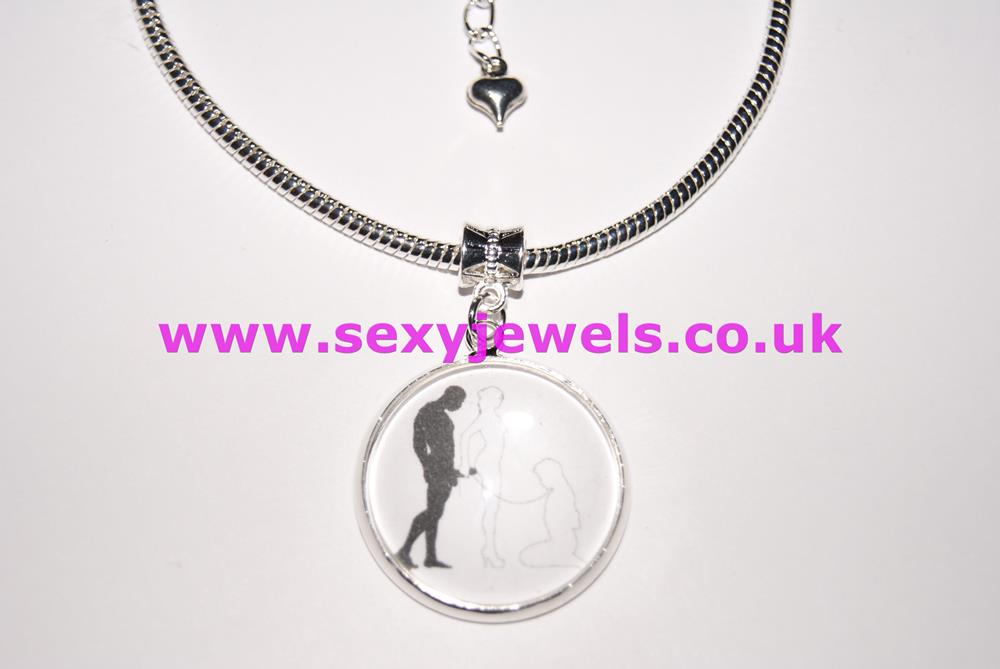 Hotwife Bull Submissive Cuckold Dome Charm Euro Anklet / Ankle Chain