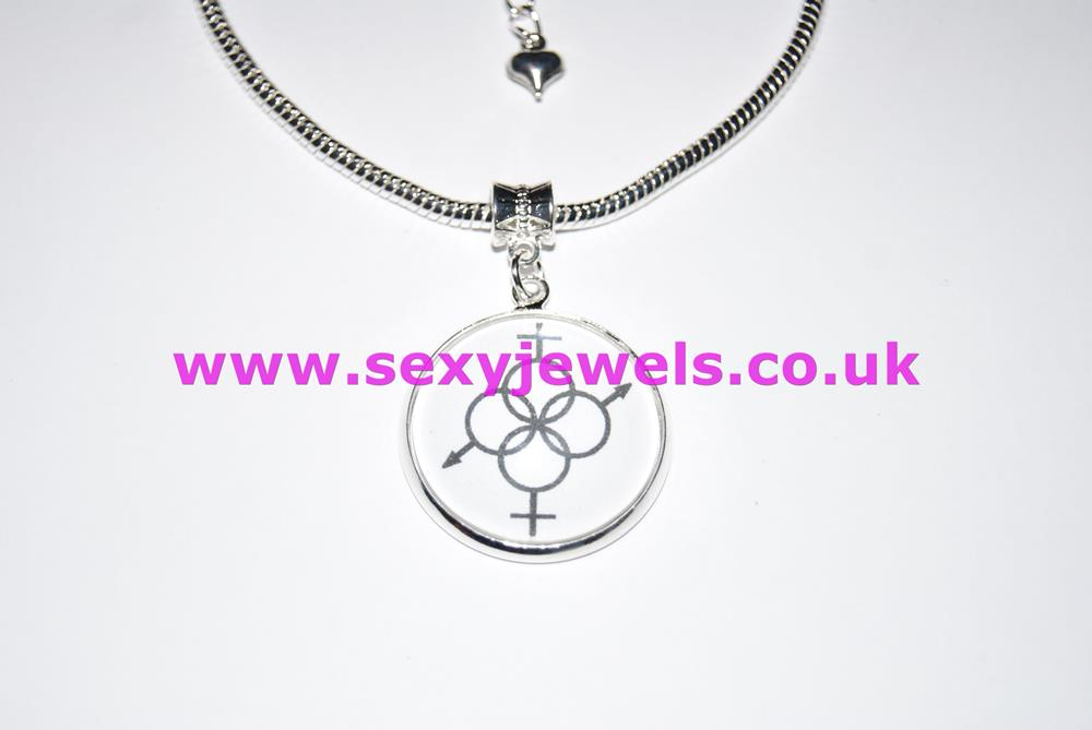Swinger Dome Charm Euro Anklet / Ankle Chain - Hotwife