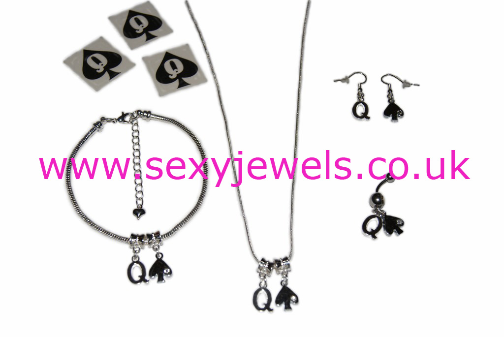 Queen Of Spades Euro Hotwife Jewellery Set - Style 1