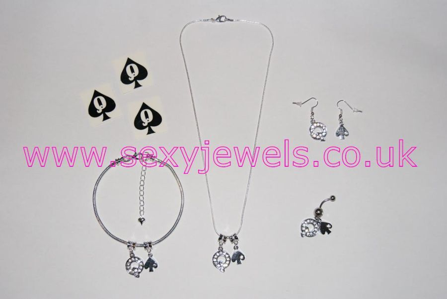 Queen Of Spades Euro Hotwife Jewellery Set - Style 2