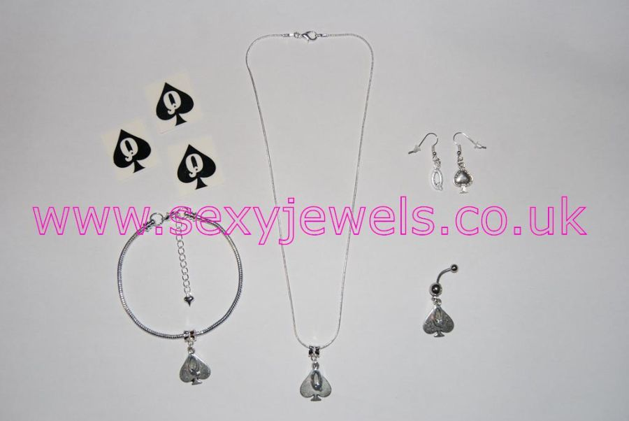 Queen Of Spades Euro Hotwife Jewellery Set - Style 3
