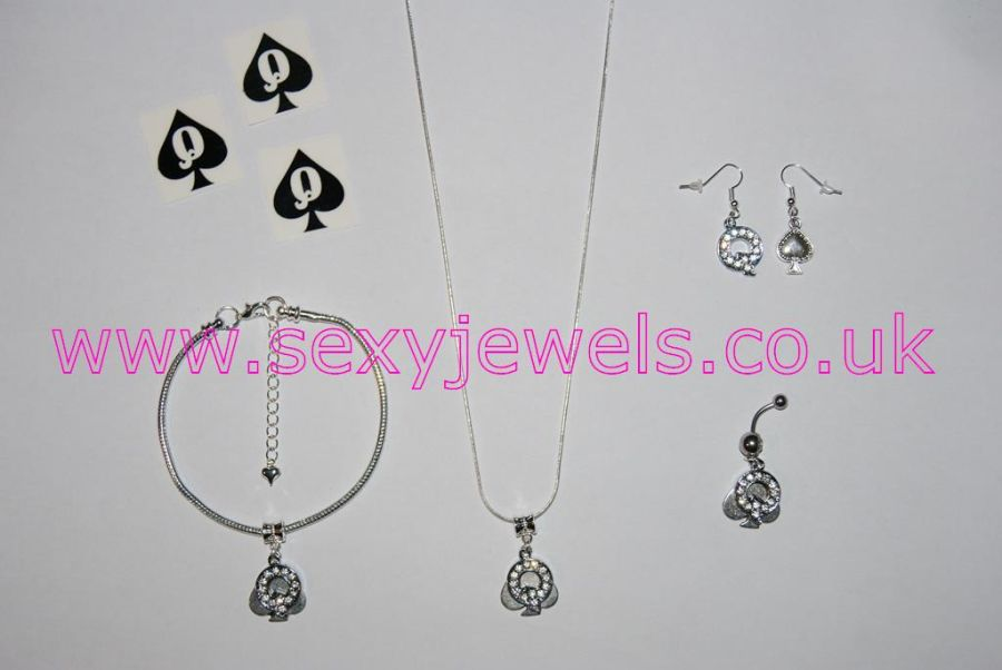 Queen Of Spades Euro Hotwife Jewelry Set - Style 4