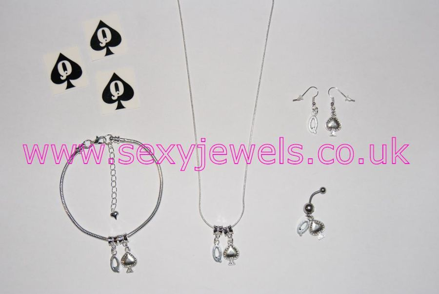 Queen Of Spades Euro Hotwife Jewelry Set - Style 5