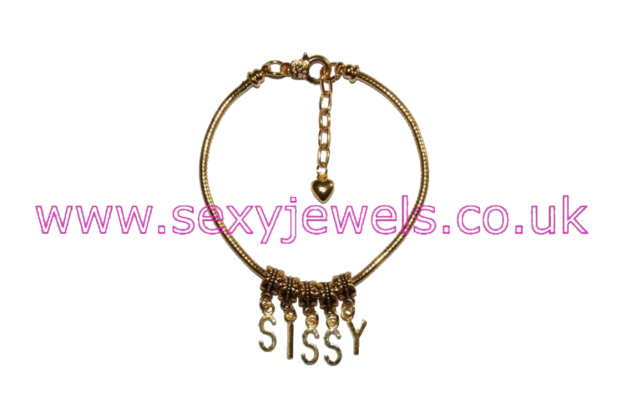 Euro Anklet / Ankle Chain `SISSY` Gold Plated Wimp