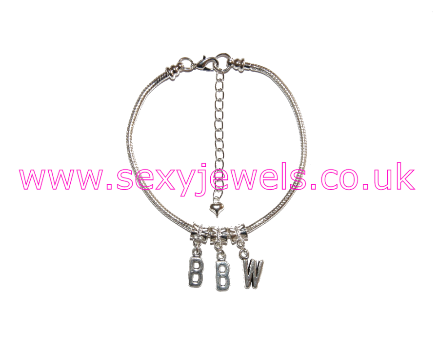 Euro Anklet / Ankle Chain `BBW` Big Beautiful Woman