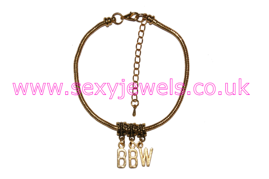BBW Euro Anklet / Ankle Chain  Big Beautiful Woman Gold