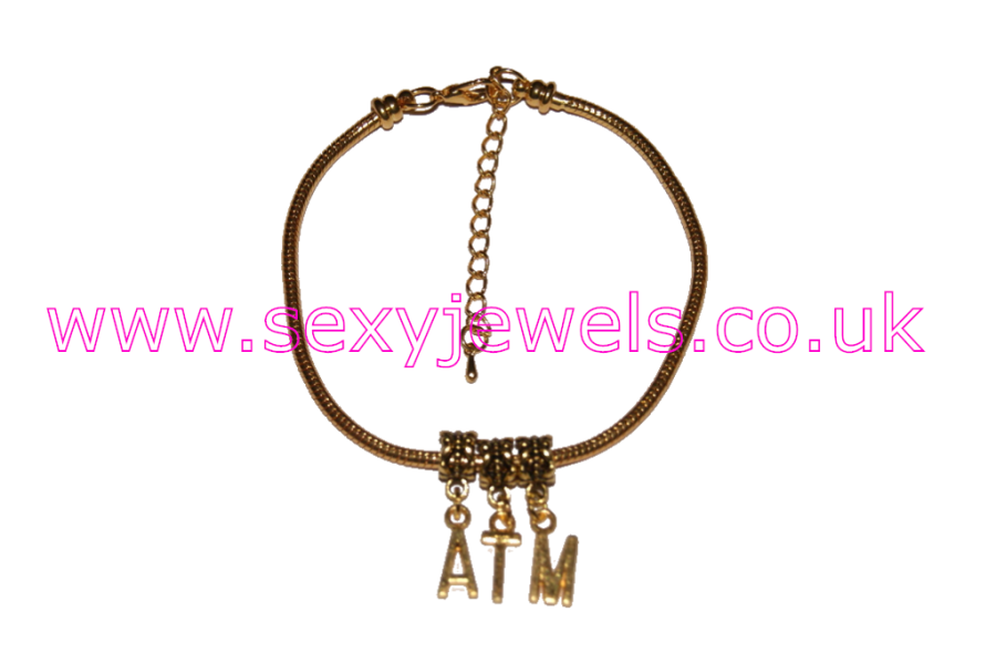 ATM Euro Anklet / Ankle Chain  Ass To Mouth Gold