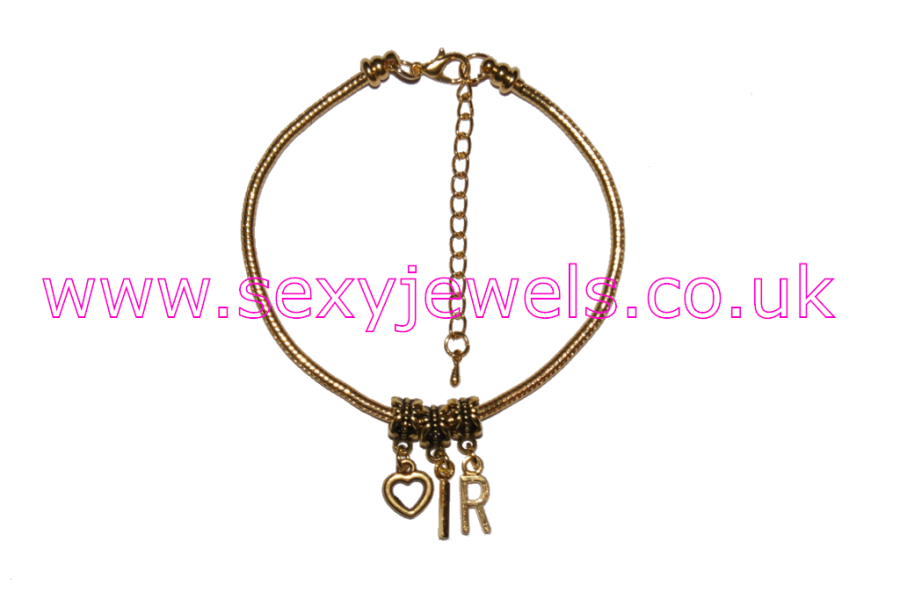 Euro Anklet / Ankle Chain `<3 IR` Love Interracial Gold
