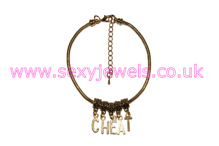 CHEAT Euro Anklet / Ankle Chain Cheating Wife Gold