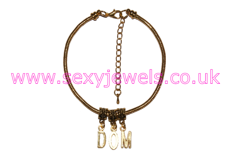 DOM Euro Anklet / Ankle Chain Dominant Male Master Gold