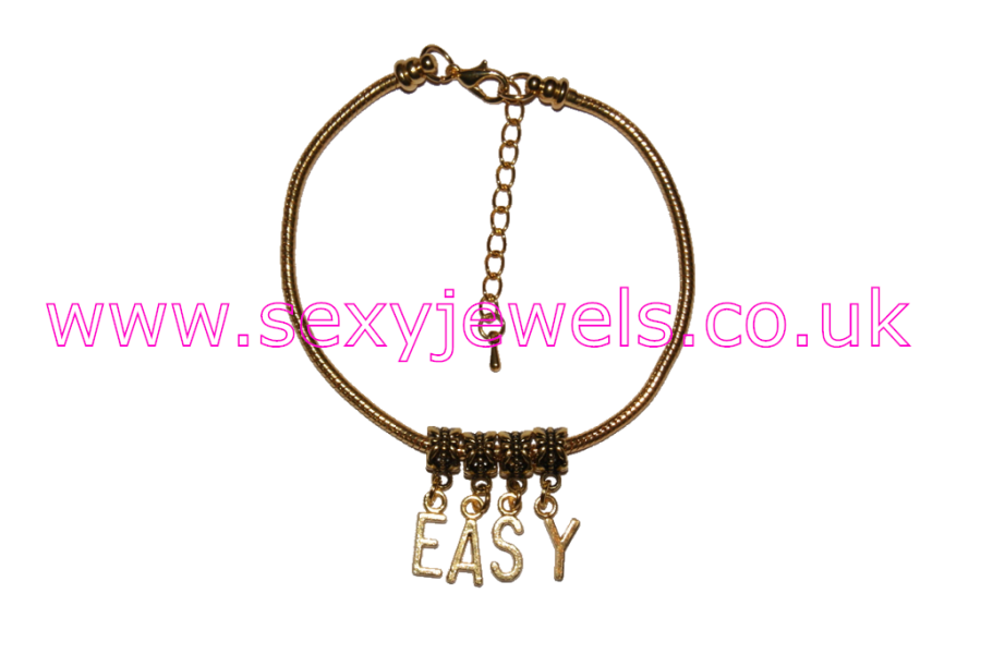 `EASY` Euro Anklet / Ankle Chain Gold