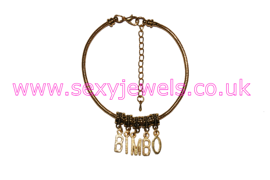 `Bimbo` Euro Anklet / Ankle Chain Glamour Gold
