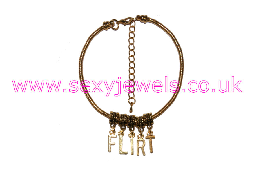 FLIRT Euro Anklet / Ankle Chain Cock Tease Gold