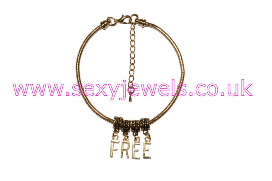 `FREE` Euro Anklet / Ankle Chain Gold