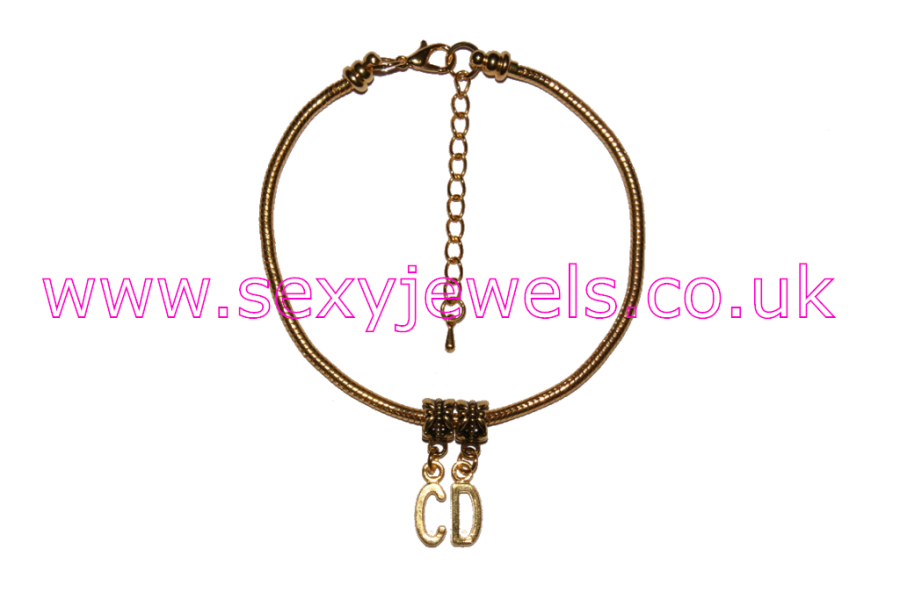 CD Gold Euro Anklet / Ankle Chain Crossdresser