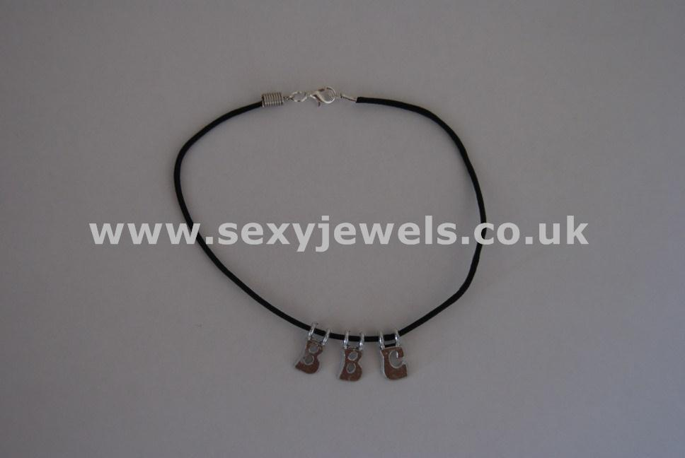 BBC Leather Cord Anklet Big Black Cock