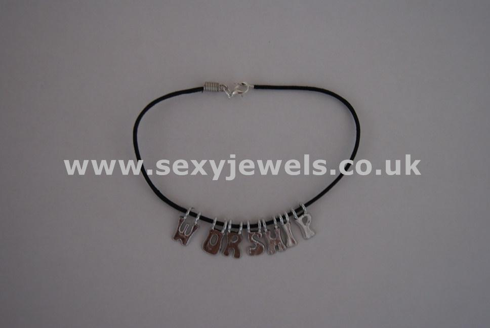 Worship Leather Cord Anklet