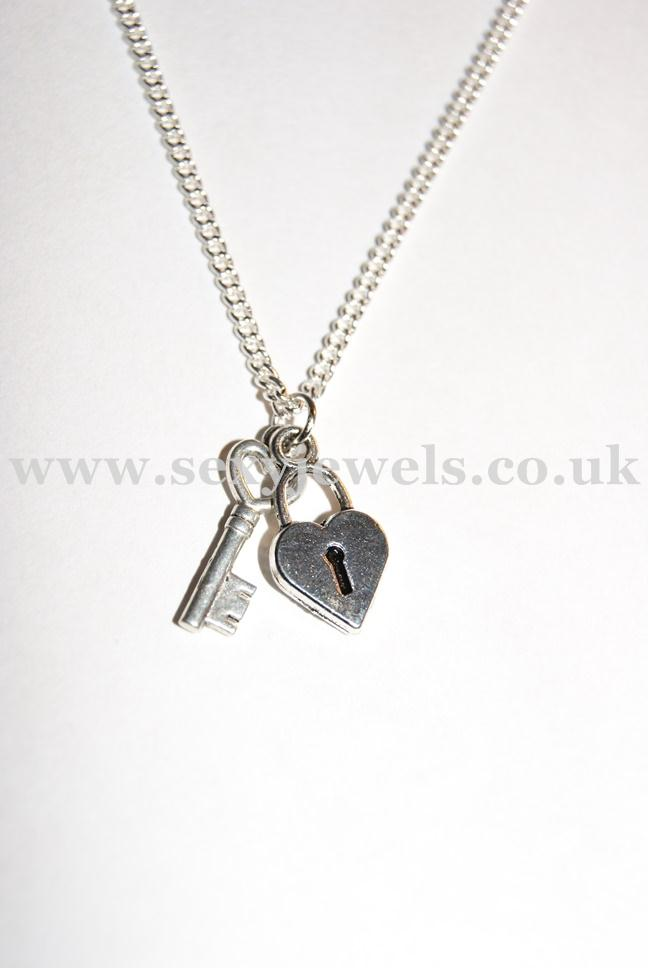 Lock and Key Sexy Cuckold Keyholder Necklace