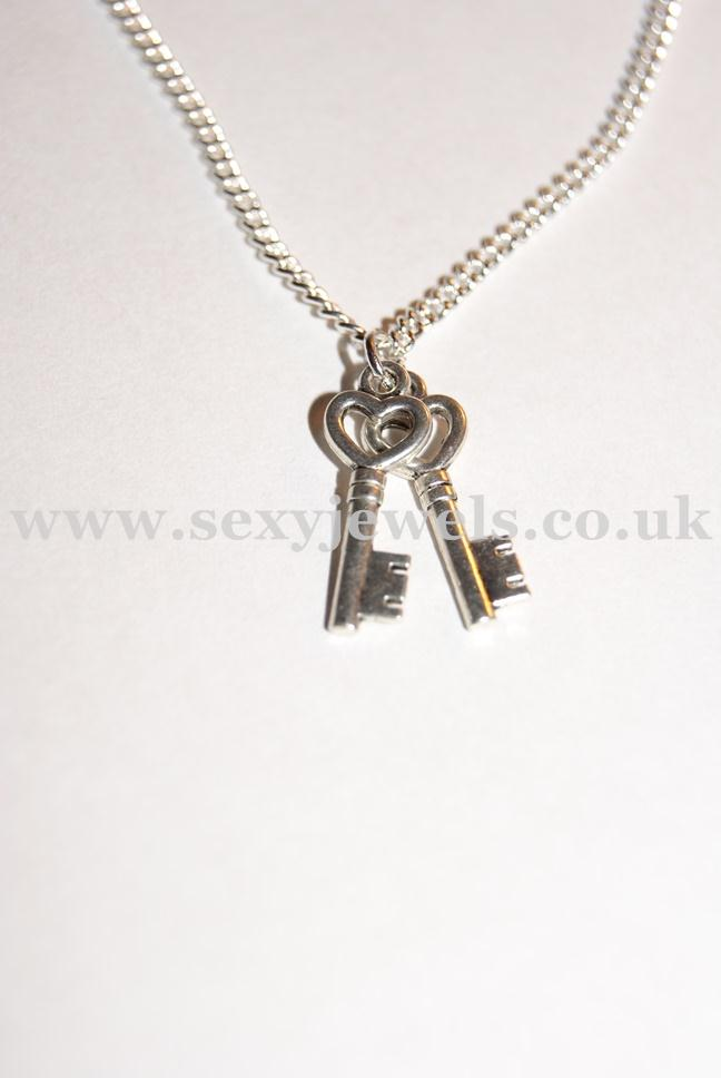 Two Keys Cuckold Chastity Style Necklace