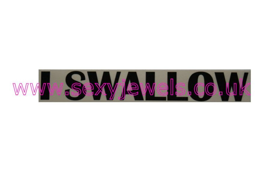 Temporary Tattoo - I Swallow Lower Back or Stomach