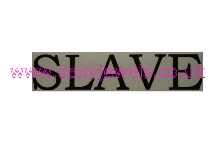 Temporary Tattoo - Slave Lower Back or Stomach
