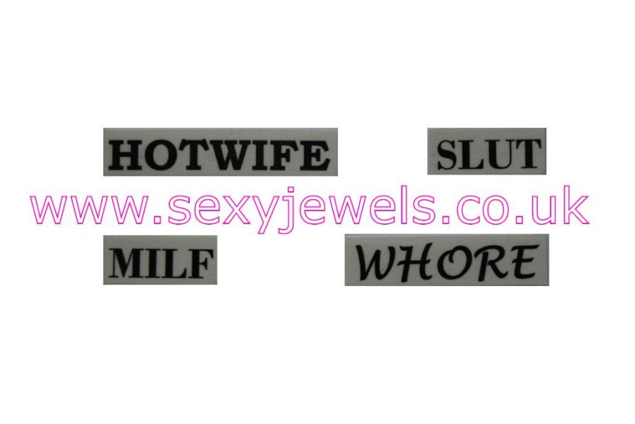 Temporary Tattoo - Multi Pack Ankle Tattoos Hotwife Slut Milf Whore