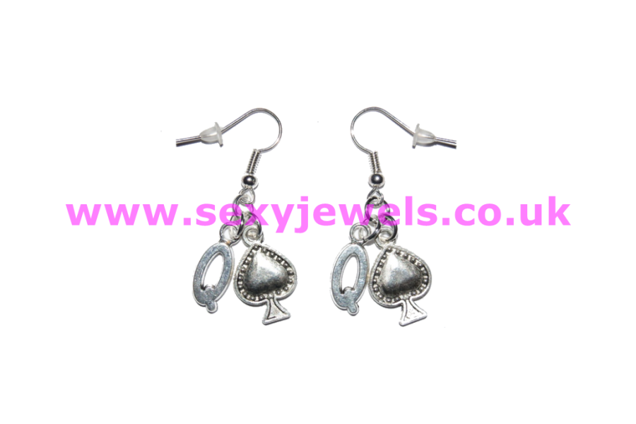 Queen Of Spade Earrings - Style 3 BBC Cuckold Hotwife