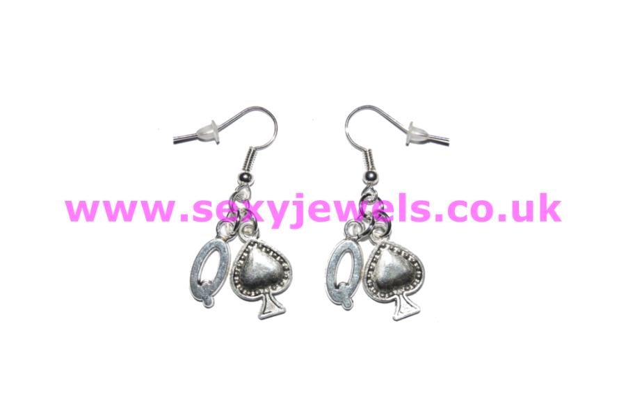 Queen Of Spade Earrings - Style 3 BBC Hotwife Jewellery