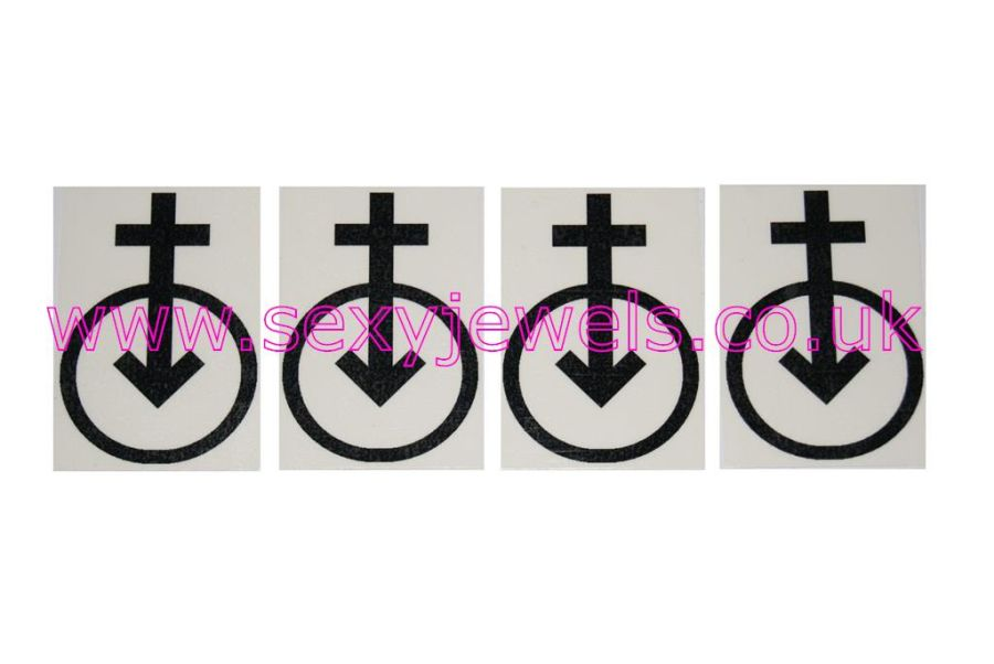 Femdom / Female Domination / Mistress Temporary Tattoos - Pack of 4