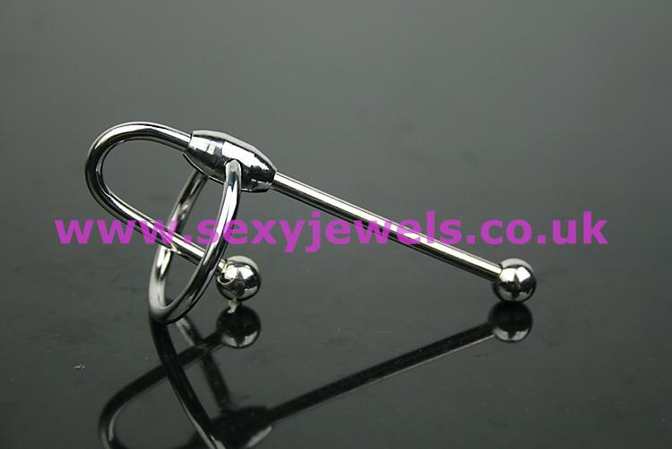 Urethral Penis Plug / Glans Ring Size Large (30mm Ring) Style 2