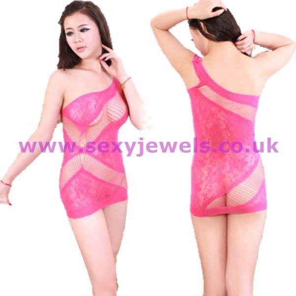 Pink Semi Opaque Mini Dress