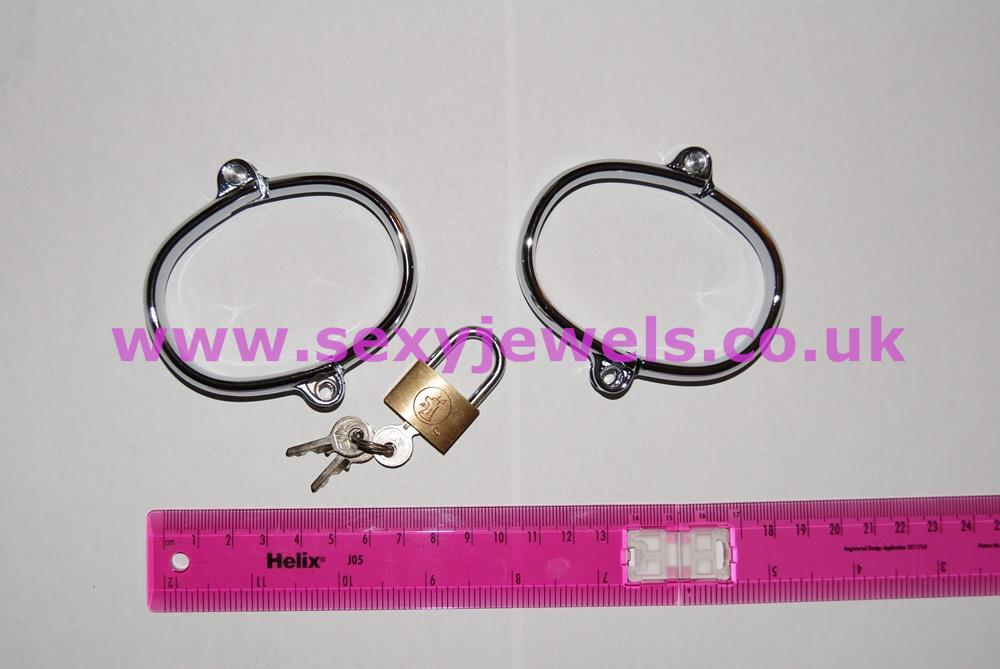 Stainless Steel Handcuffs Hand Irons