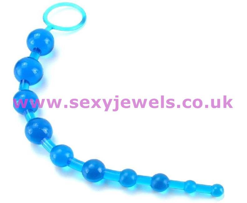 Blue Anal Beads 30cm